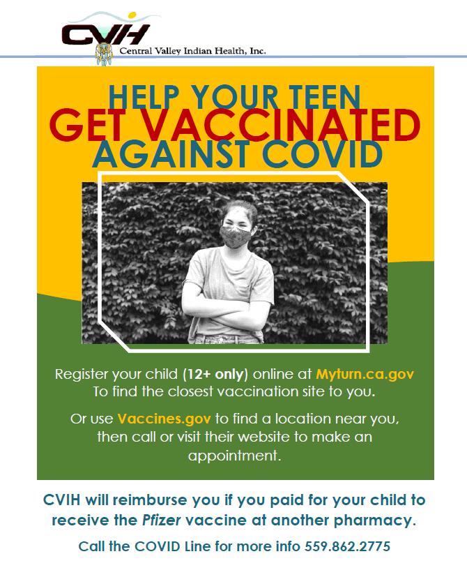 Teen Vaccine Flyer